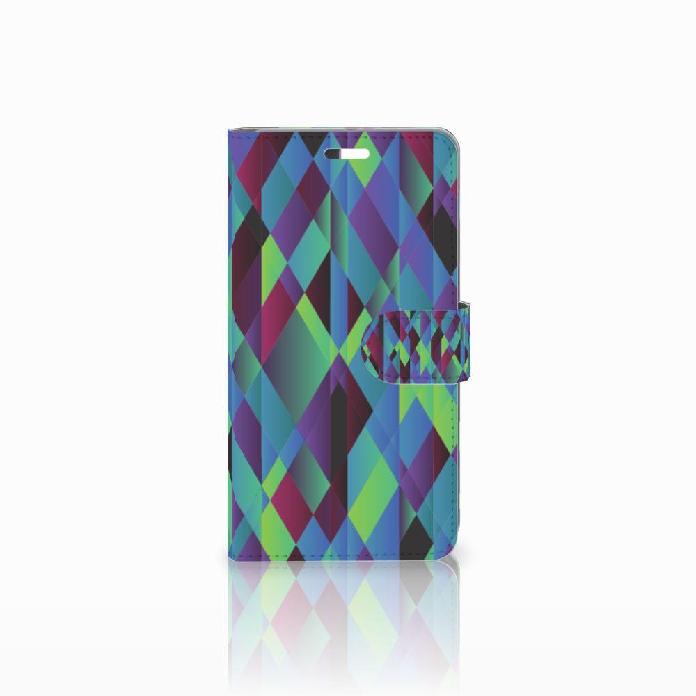 Huawei P9 Plus Boekhoesje Design Abstract Green Blue