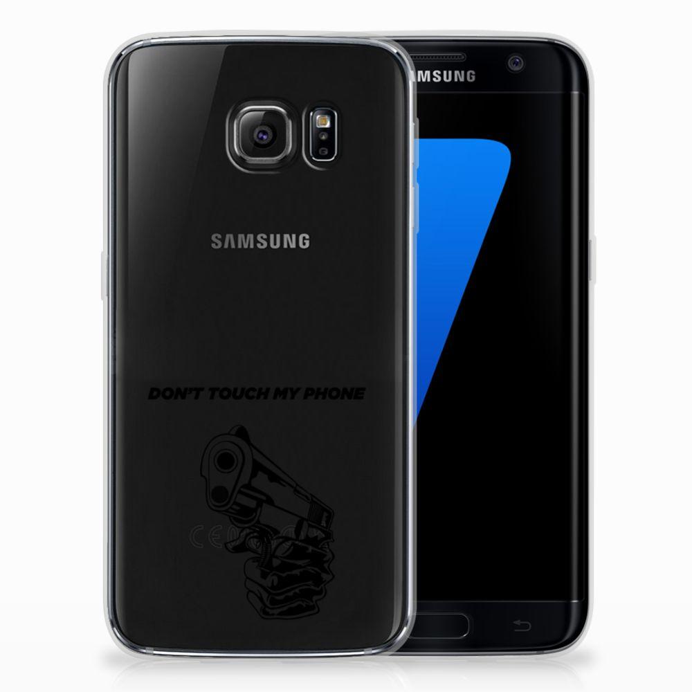 Samsung Galaxy S7 Edge Uniek TPU Hoesje Gun DTMP