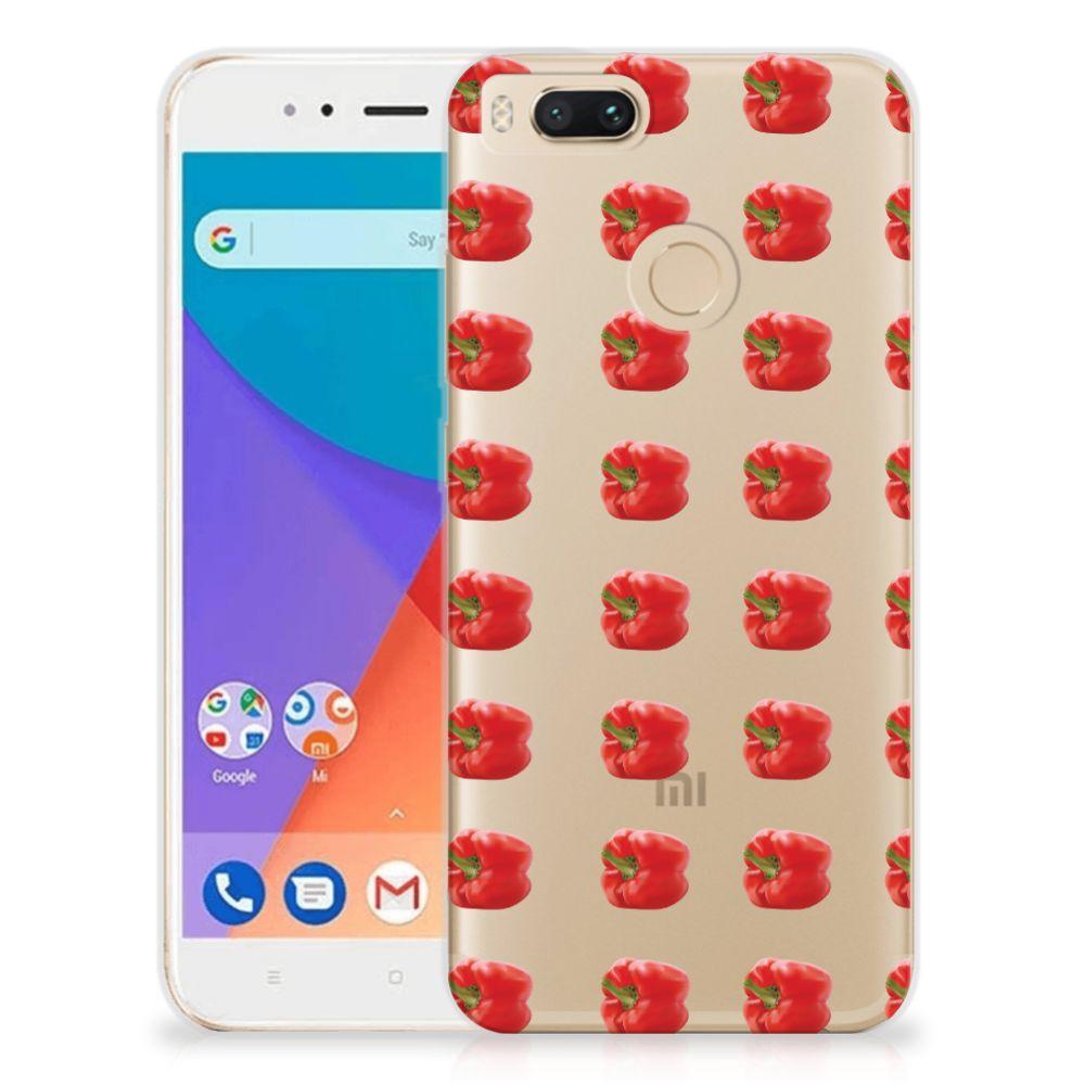 Xiaomi Mi A1 Siliconen Case Paprika Red