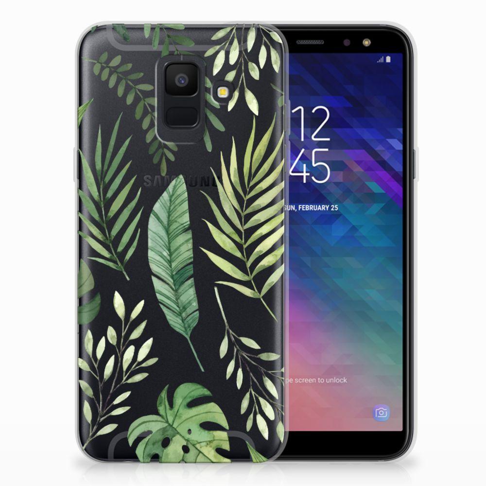 Samsung Galaxy A6 (2018) TPU Case Leaves