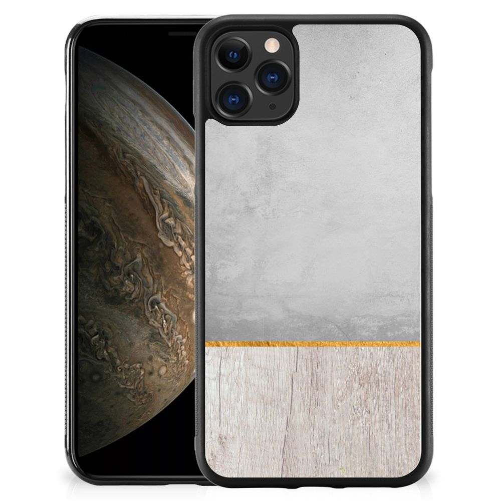 Apple iPhone 11 Pro Grip Case Wood Concrete
