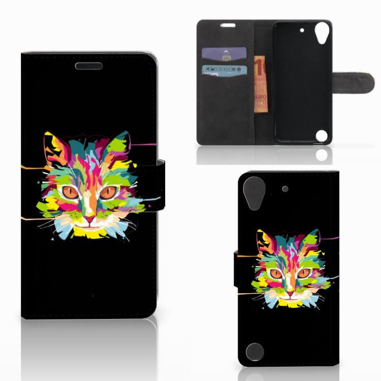 HTC Desire 530 Leuke Hoesje Cat Color