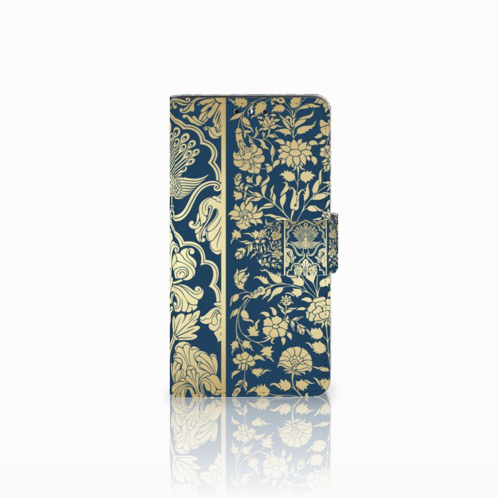 Huawei Y5 | Y6 2017 Uniek Boekhoesje Golden Flowers