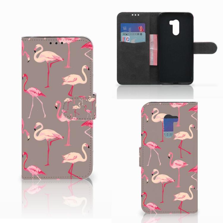 Xiaomi Pocophone F1 Telefoonhoesje met Pasjes Flamingo
