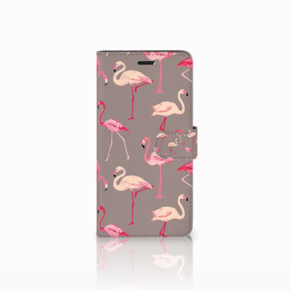 Wiko Pulp Fab 4G Uniek Boekhoesje Flamingo