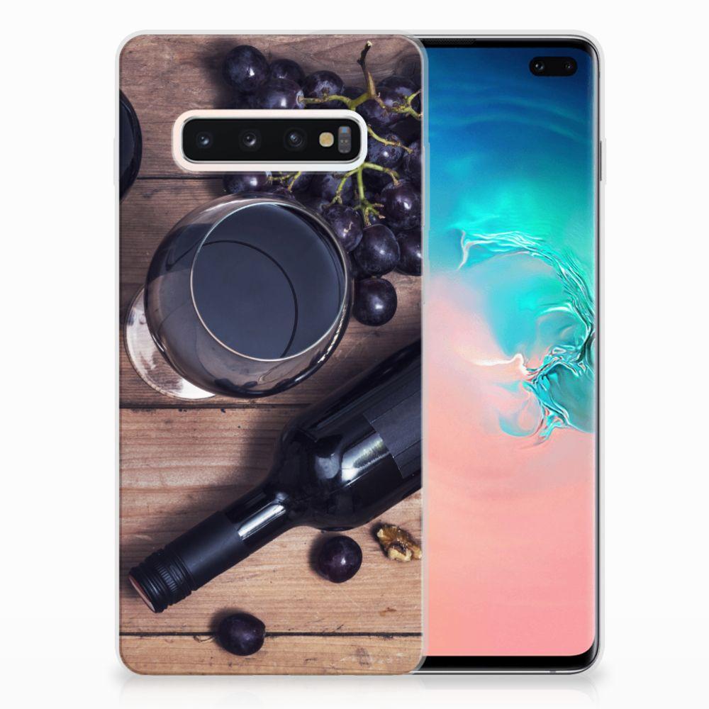 Samsung Galaxy S10 Plus Siliconen Case Wijn