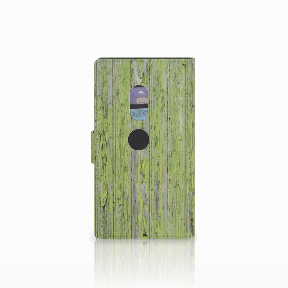 Sony Xperia XZ2 Boekhoesje Design Green Wood