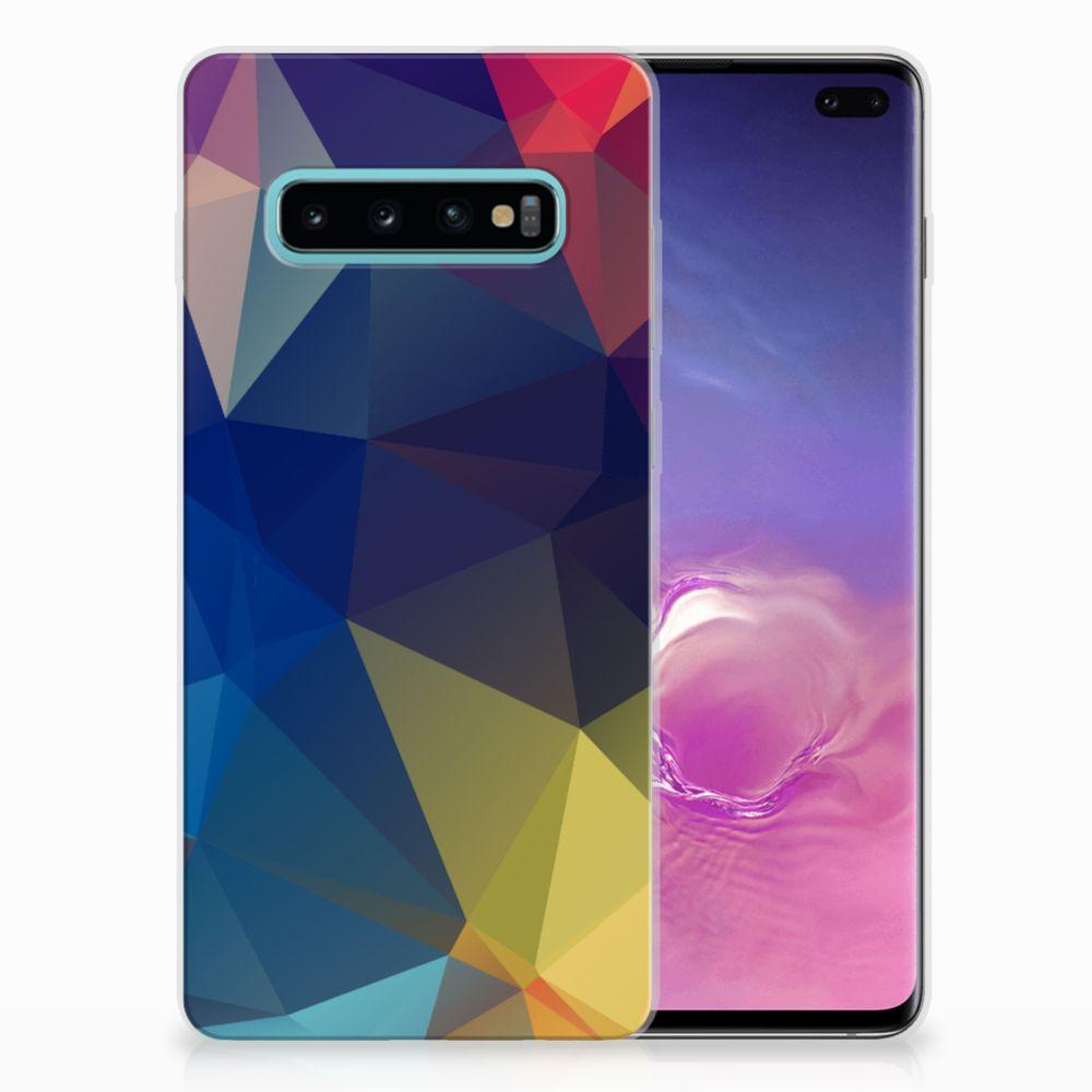 Samsung Galaxy S10 Plus TPU Hoesje Polygon Dark