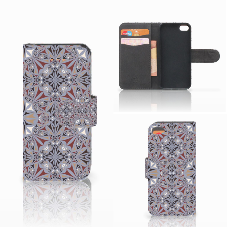 Apple iPhone 5C Bookcase Flower Tiles