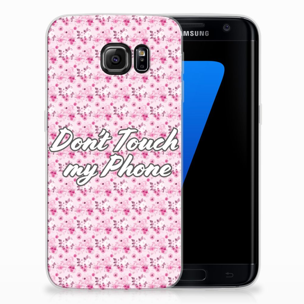 Samsung Galaxy S7 Edge Uniek TPU Hoesje Flowers Pink DTMP