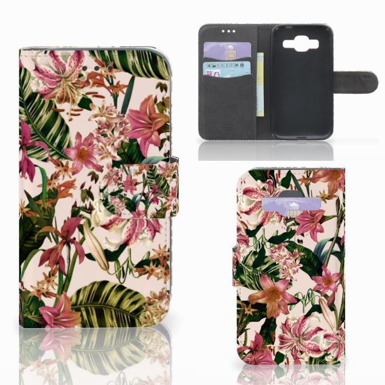 Samsung Galaxy Core Prime Hoesje Flowers