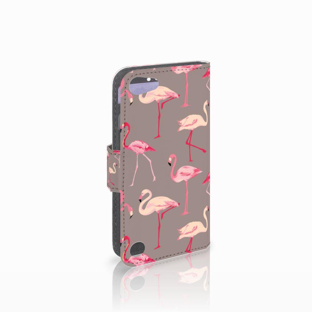 Apple iPod Touch 5   6 Uniek Boekhoesje Flamingo