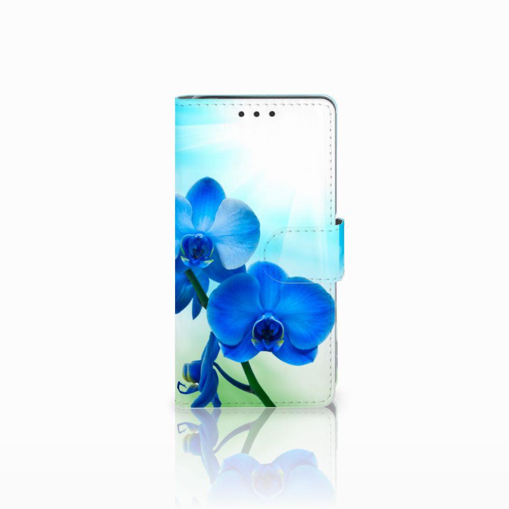 Sony Xperia X Boekhoesje Design Orchidee Blauw