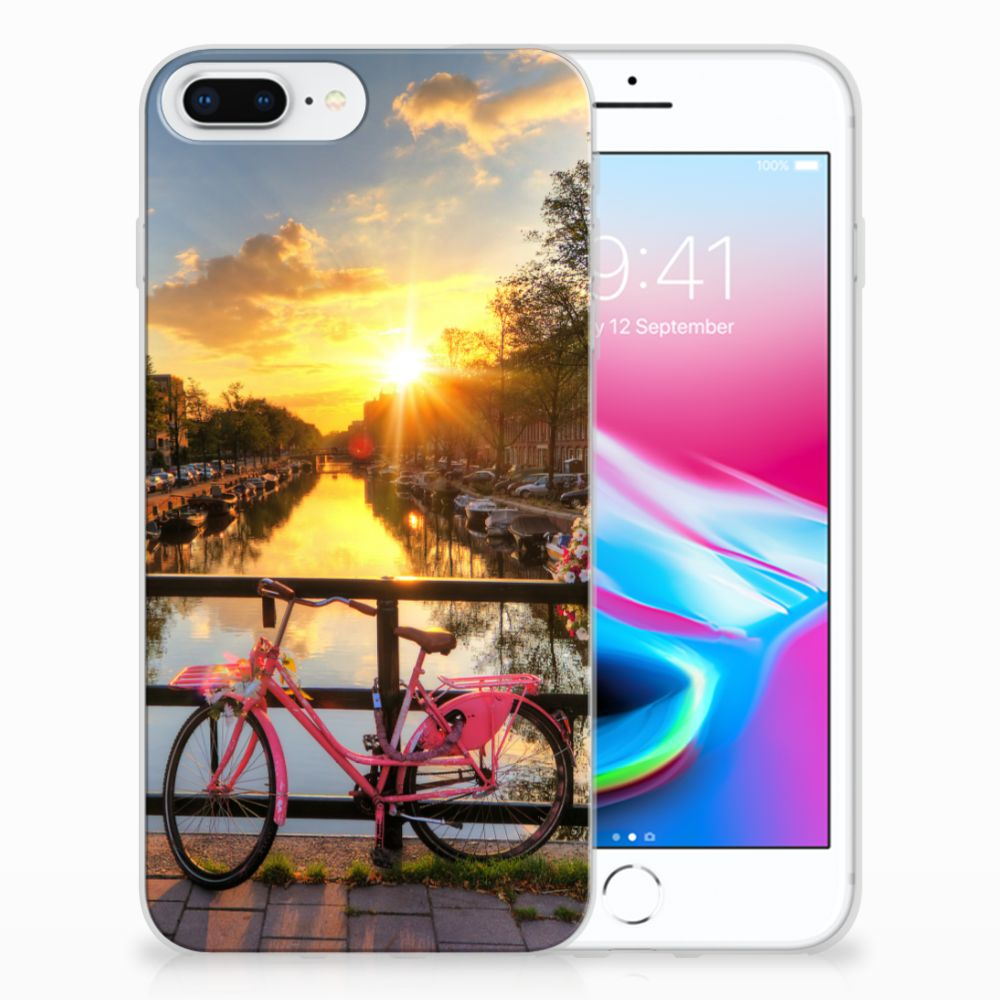 Apple iPhone 7 Plus | 8 Plus Uniek TPU Hoesje Amsterdamse Grachten