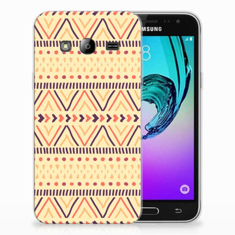Samsung Galaxy J3 2016 TPU bumper Aztec Yellow