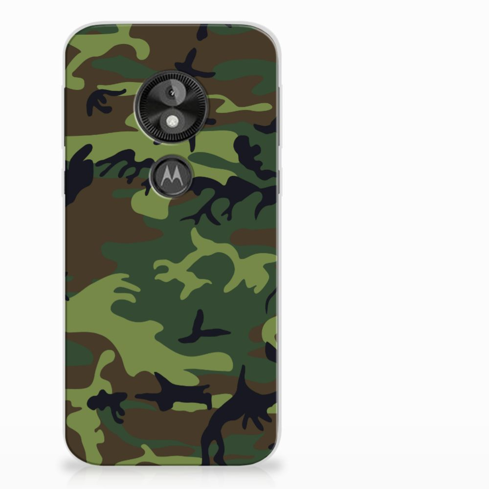 Motorola Moto E5 Play TPU Hoesje Design Army Dark
