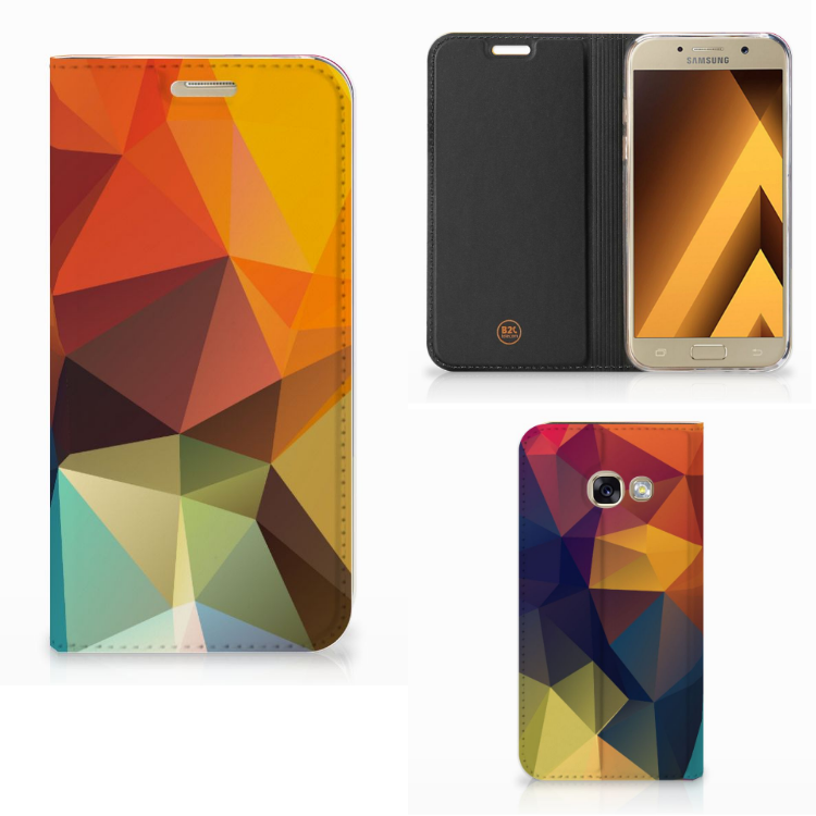 Samsung Galaxy A3 2017 Stand Case Polygon Color