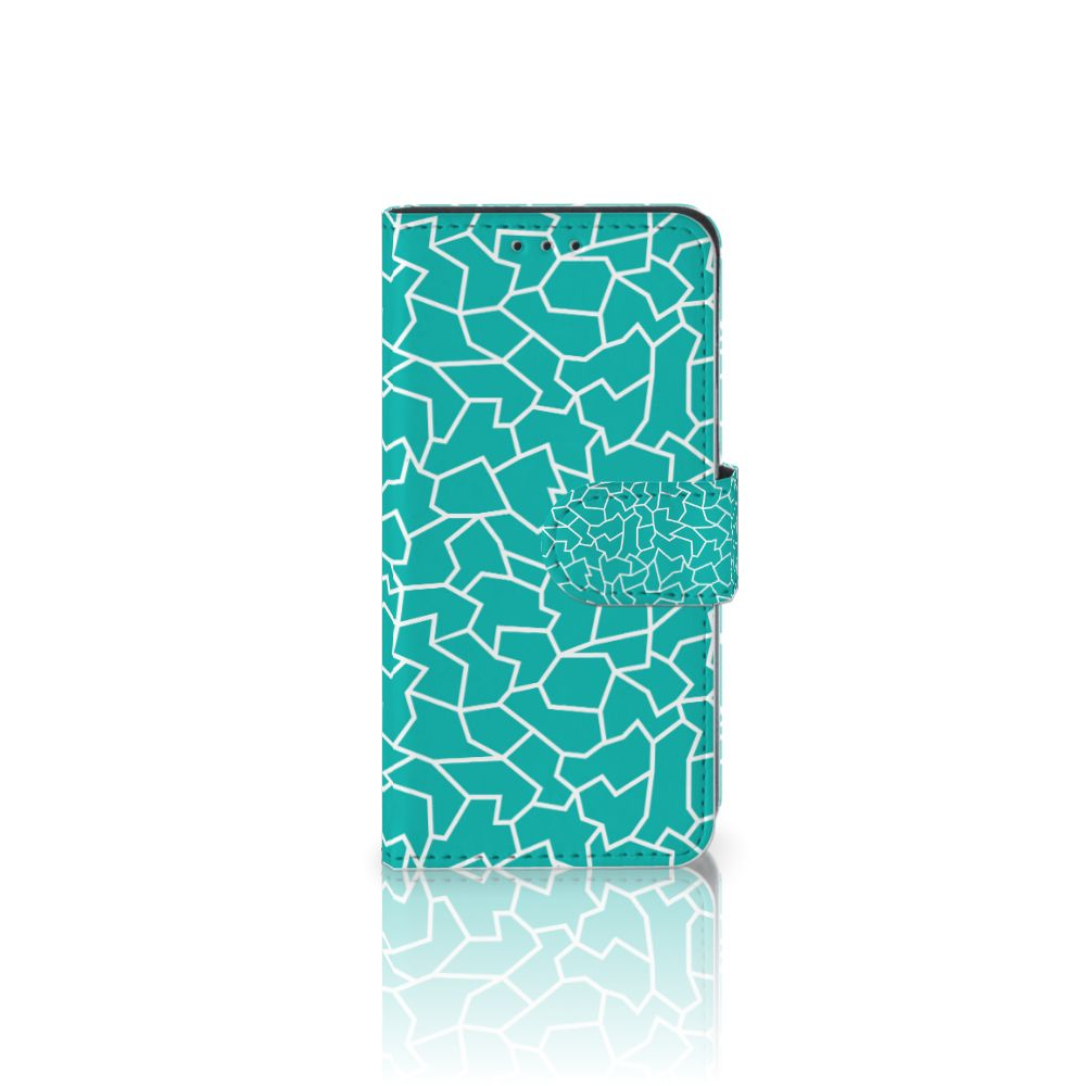 Samsung Galaxy A3 2017 Boekhoesje Design Cracks Blue