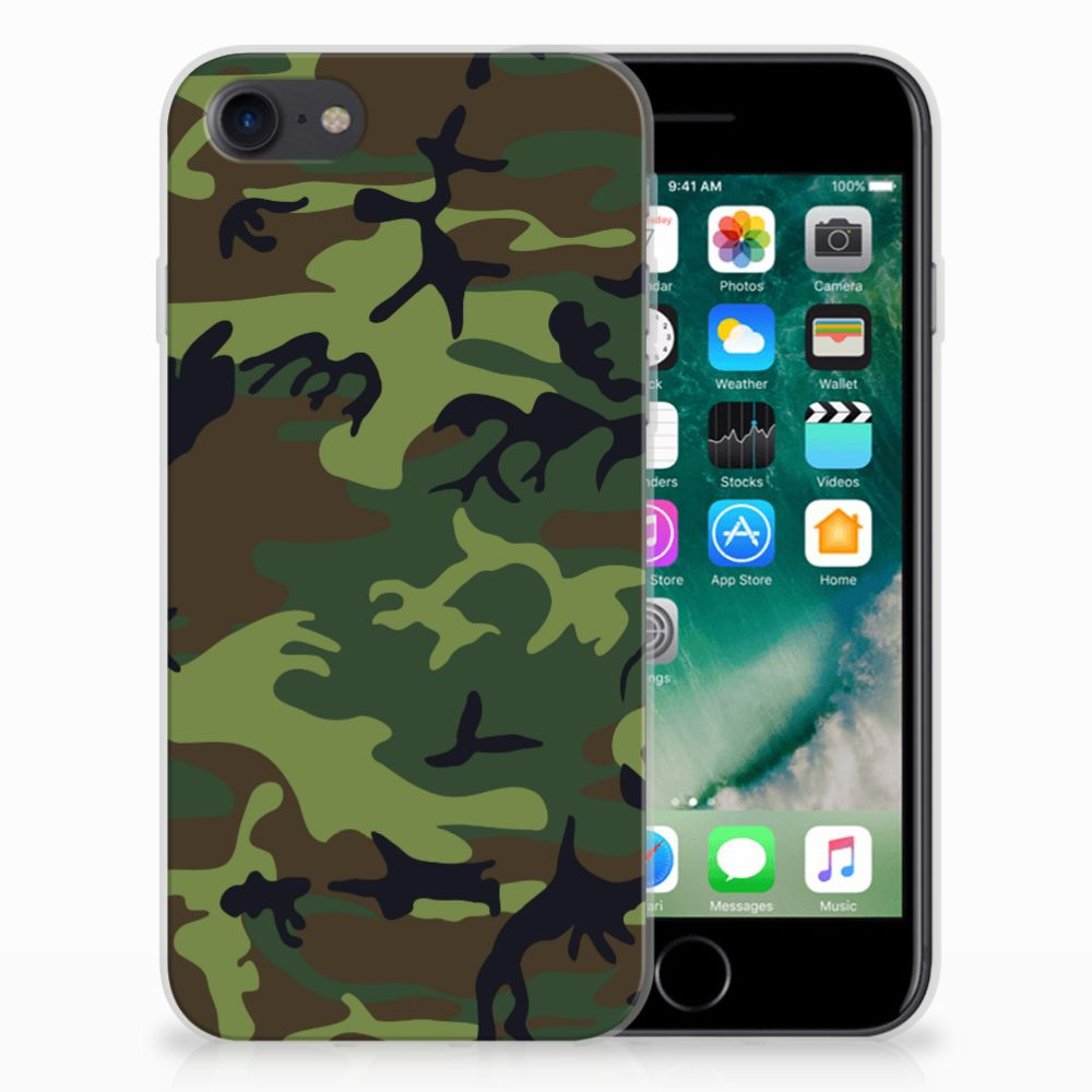 Apple iPhone 7 | 8 TPU Hoesje Design Army Dark