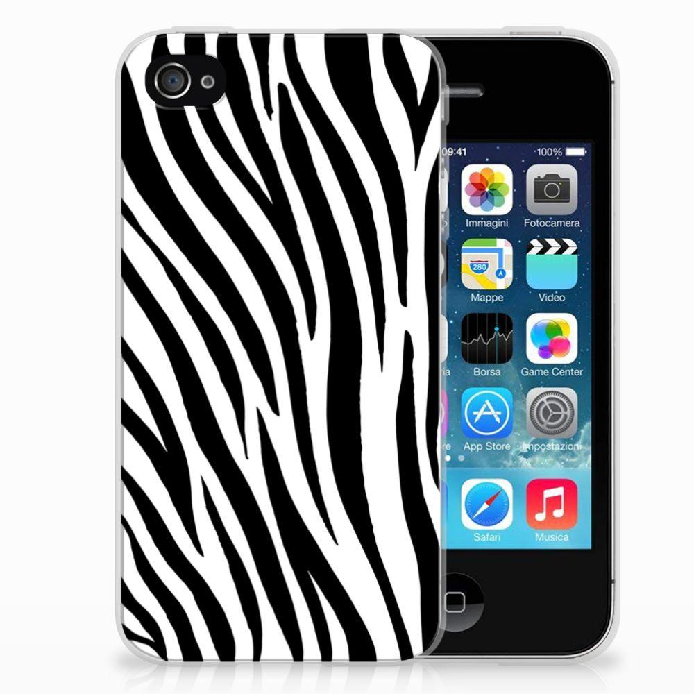 Apple iPhone 4 | 4s TPU Hoesje Design Zebra