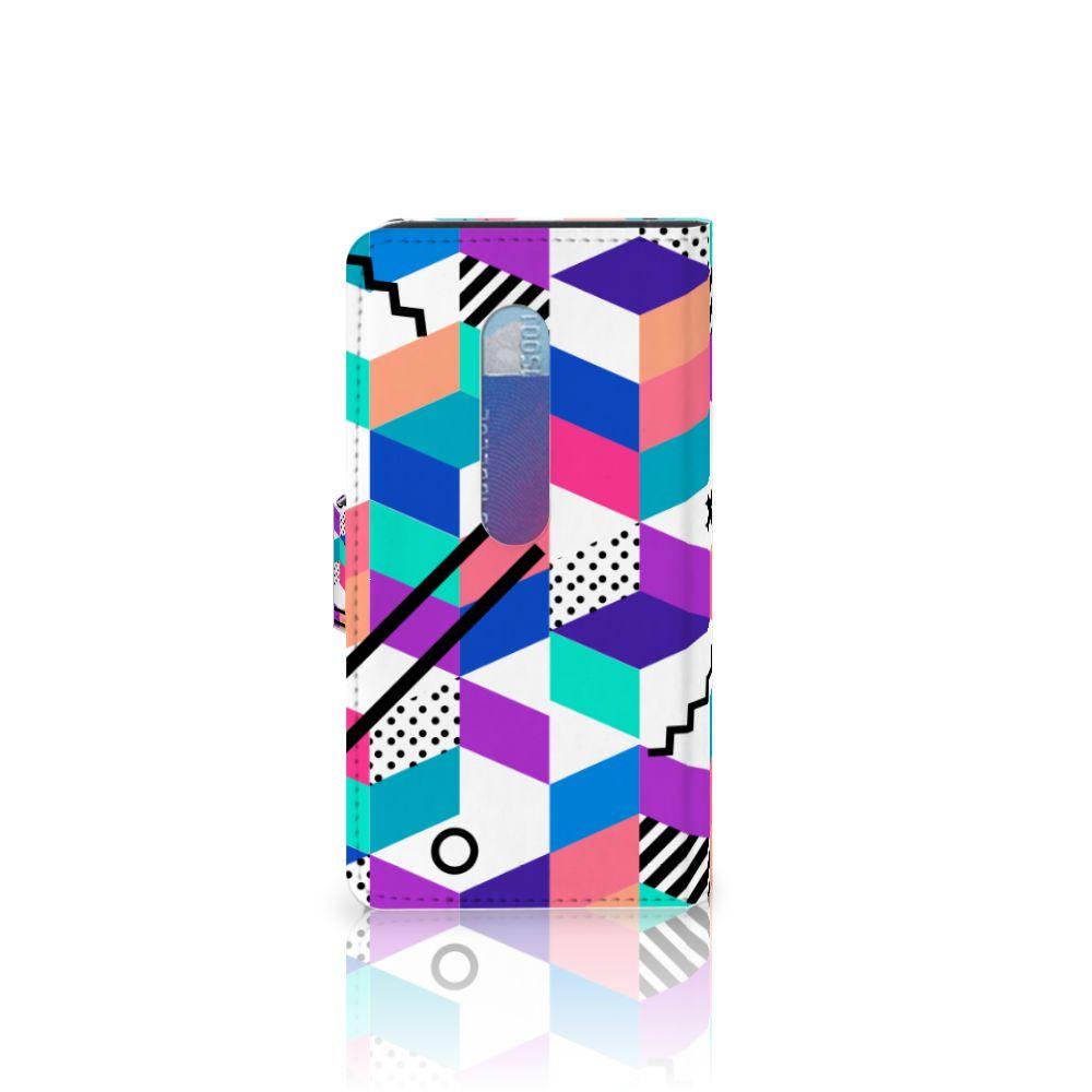 Motorola Moto G 3e Generatie Bookcase Blokken Kleurrijk