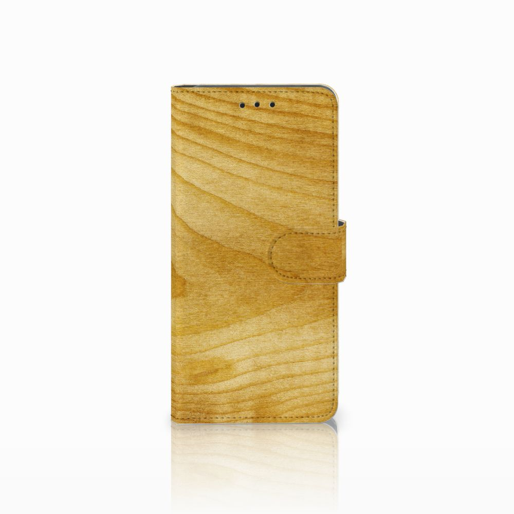 Huawei Mate 20 Pro Uniek Boekhoesje Licht Hout