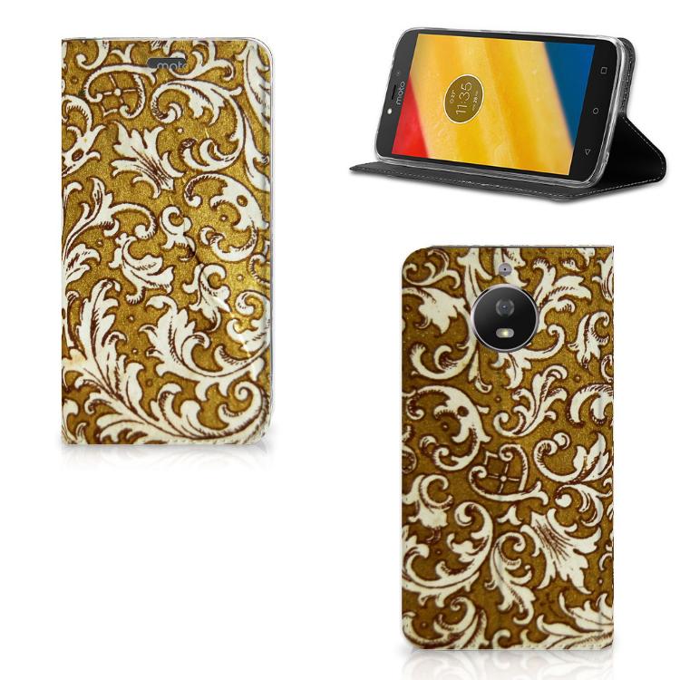 Telefoon Hoesje Motorola Moto G5S Barok Goud