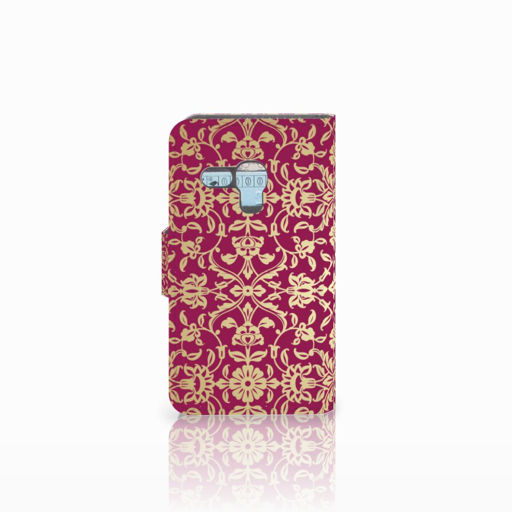 Wallet Case Samsung Galaxy S3 Mini Barok Pink