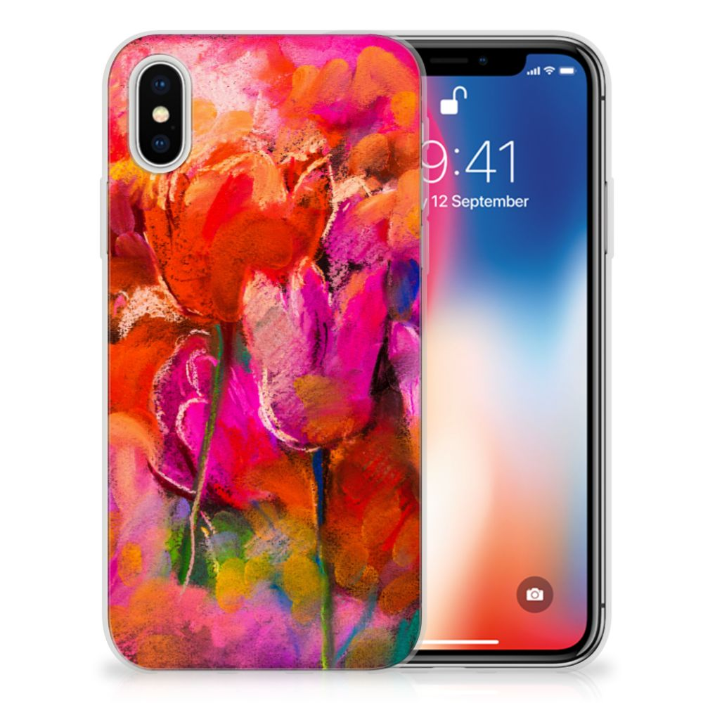 Apple iPhone X | Xs TPU Hoesje Design Tulips