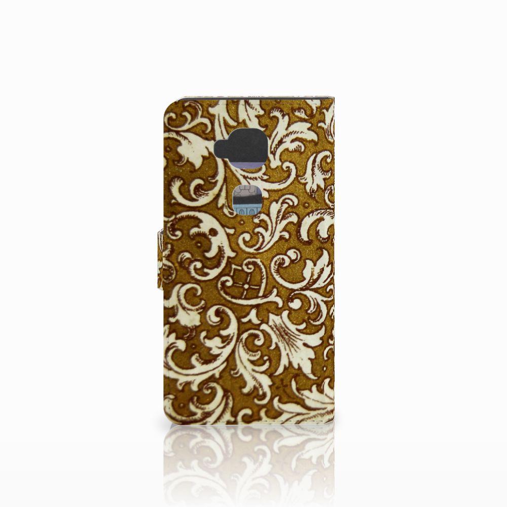 Wallet Case Huawei G8 Barok Goud