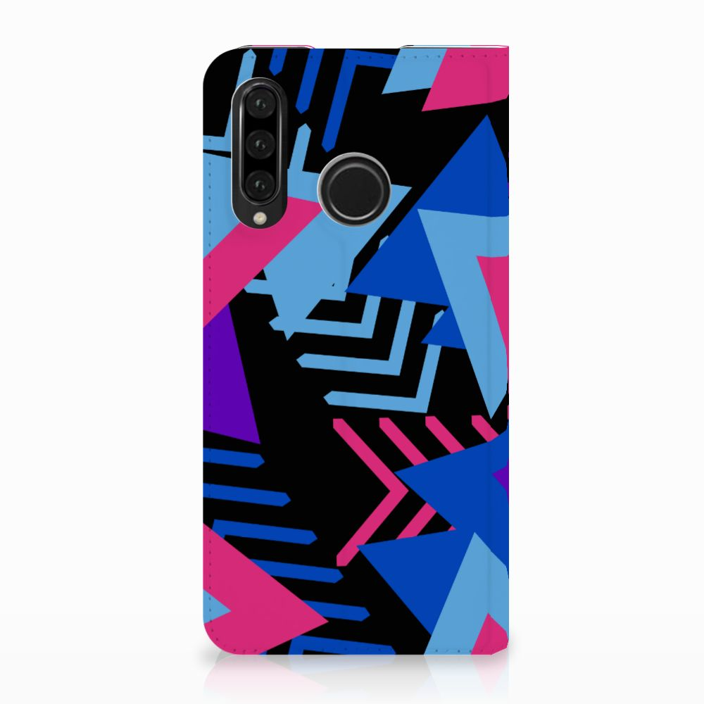 Huawei P30 Lite Stand Case Funky Triangle