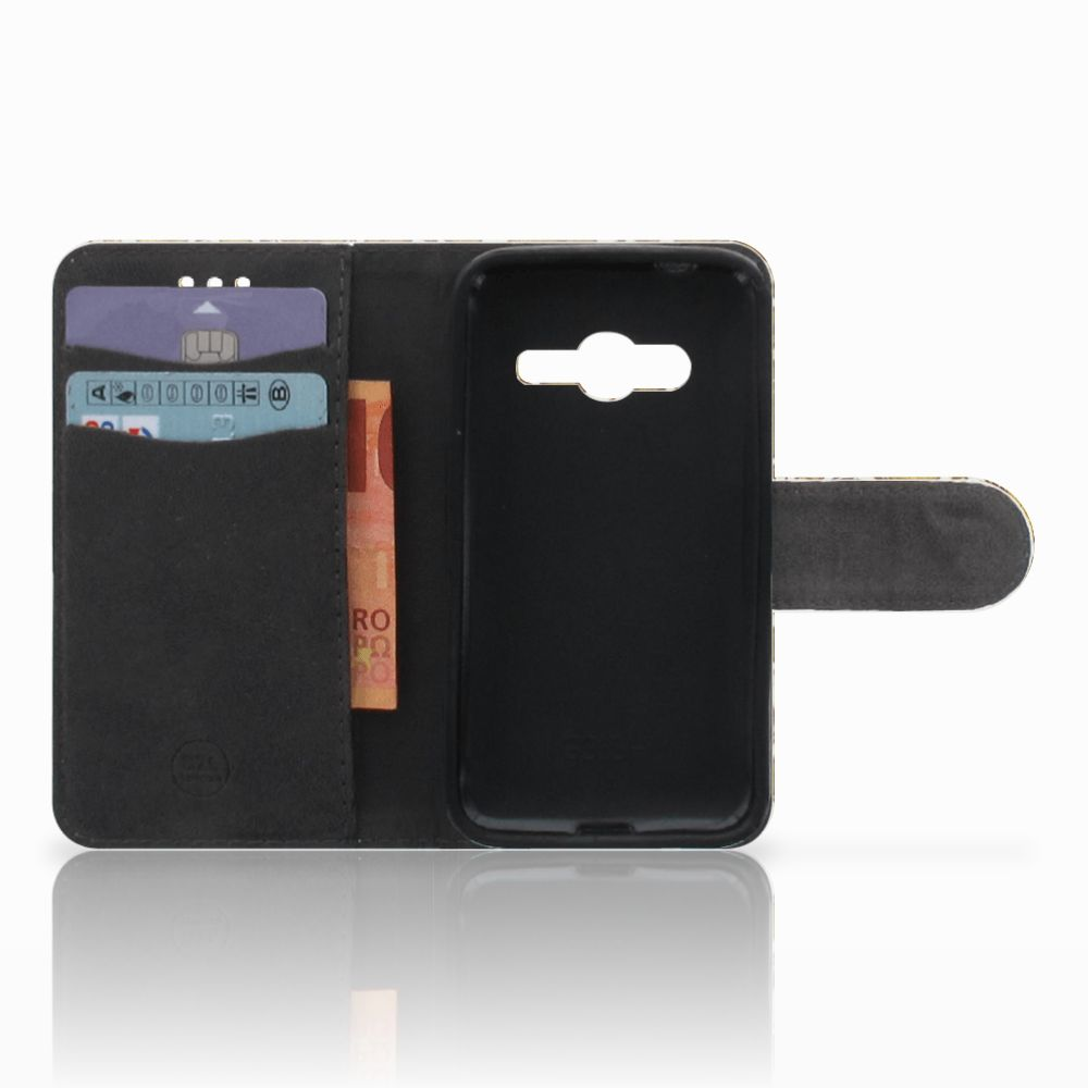 Wallet Case Samsung Galaxy Trend 2 Barok Goud