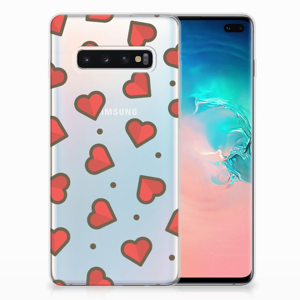 Samsung Galaxy S10 Plus TPU bumper Hearts