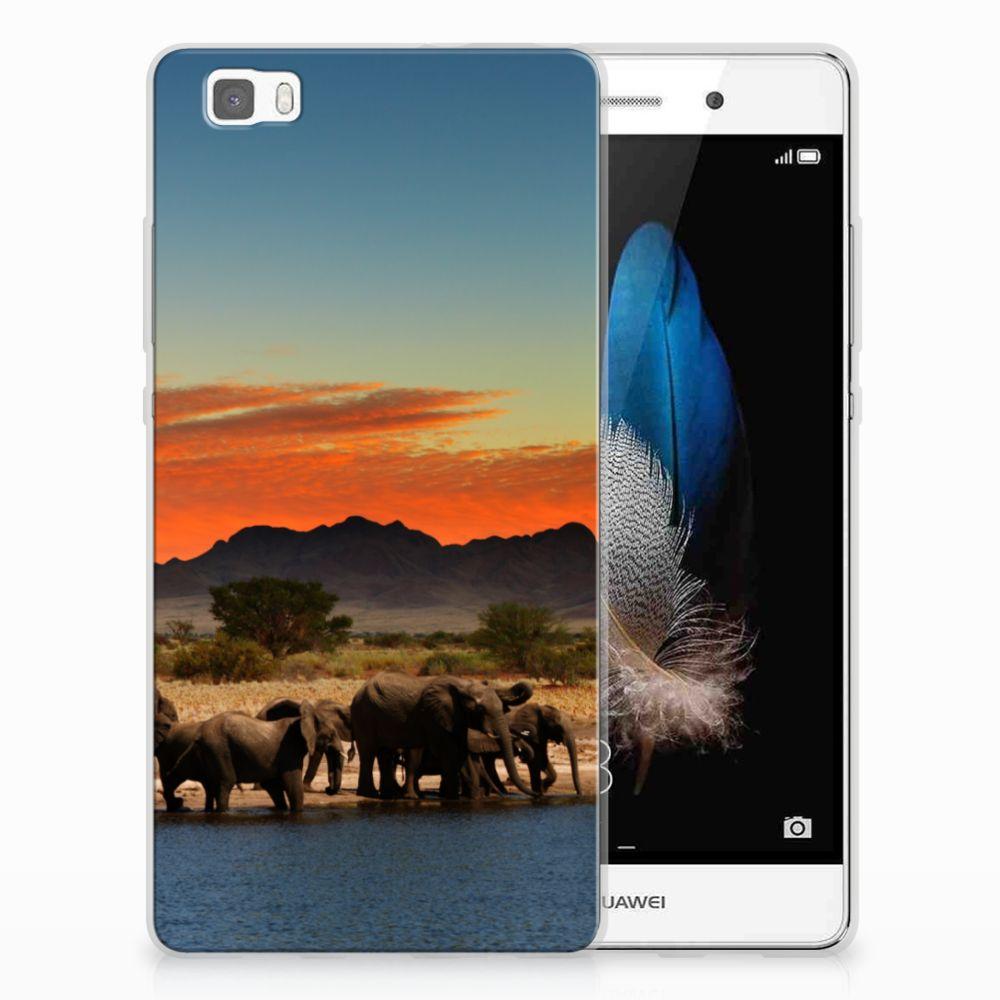 Huawei Ascend P8 Lite TPU Hoesje Olifanten