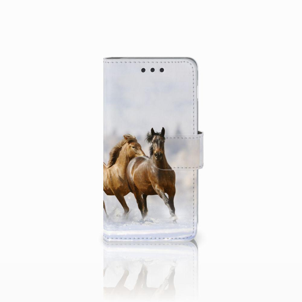 Samsung Galaxy A3 2016 Uniek Boekhoesje Paarden