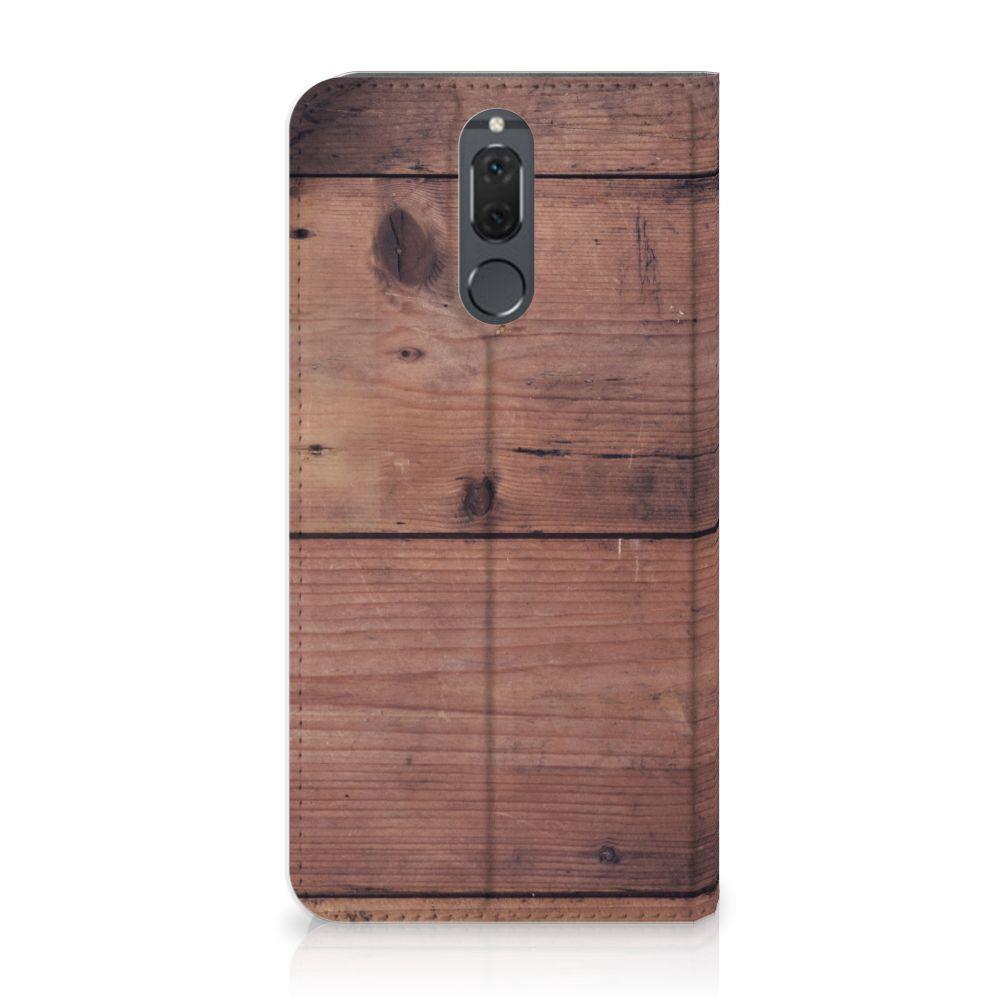 Huawei Mate 10 Lite Uniek Standcase Hoesje Old Wood
