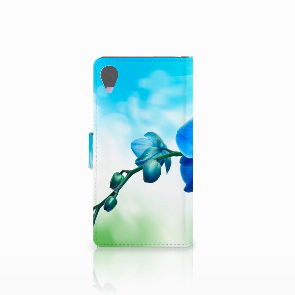 Sony Xperia X Performance Hoesje Orchidee Blauw