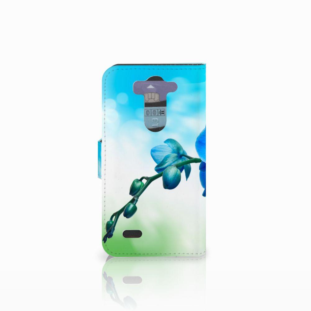 LG G3 S Hoesje Orchidee Blauw