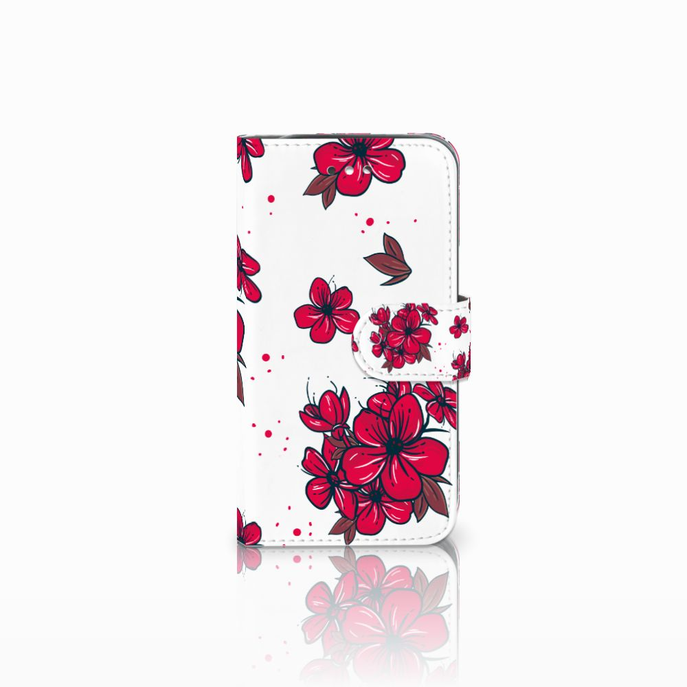 Samsung Galaxy S4 Boekhoesje Design Blossom Red