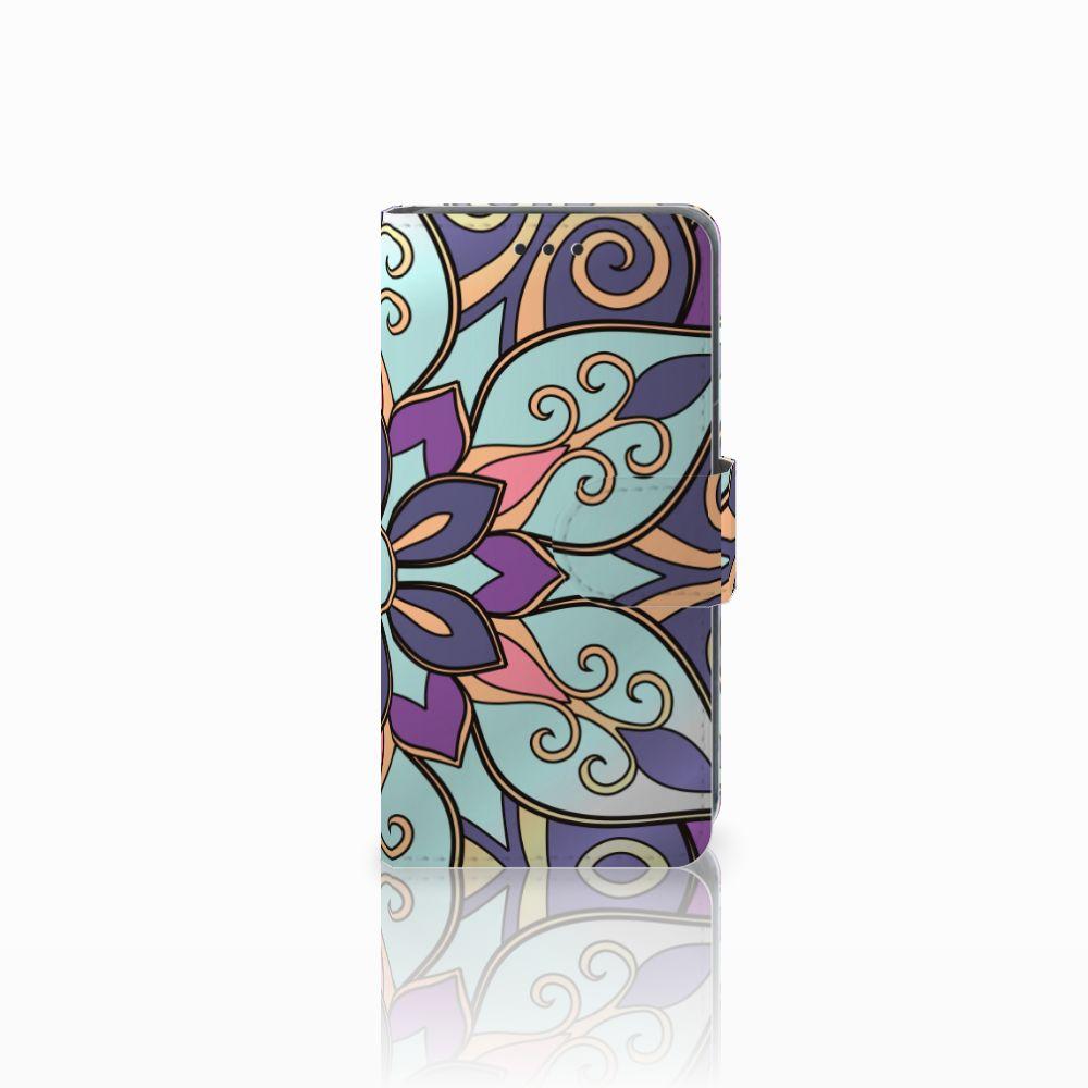 Nokia Lumia 630 Boekhoesje Design Purple Flower