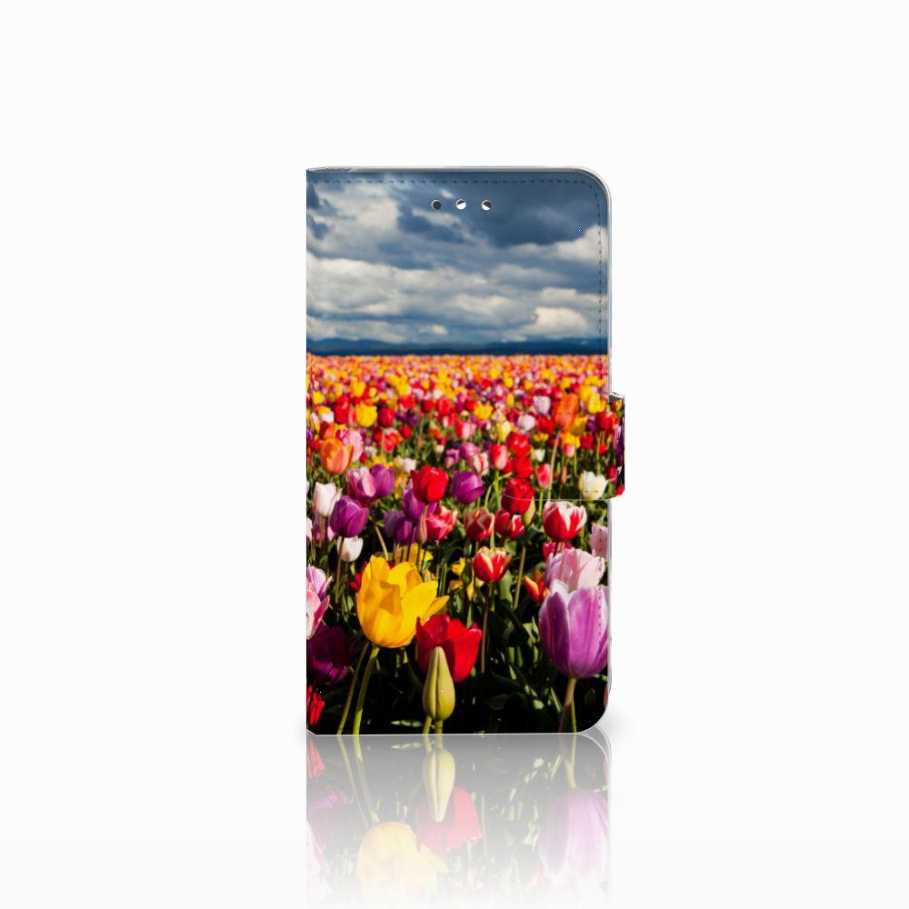 Huawei Y7 2017   Y7 Prime 2017 Uniek Boekhoesje Tulpen