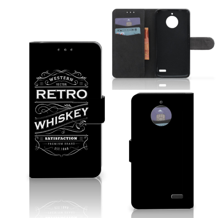Motorola Moto E4 Book Cover Whiskey