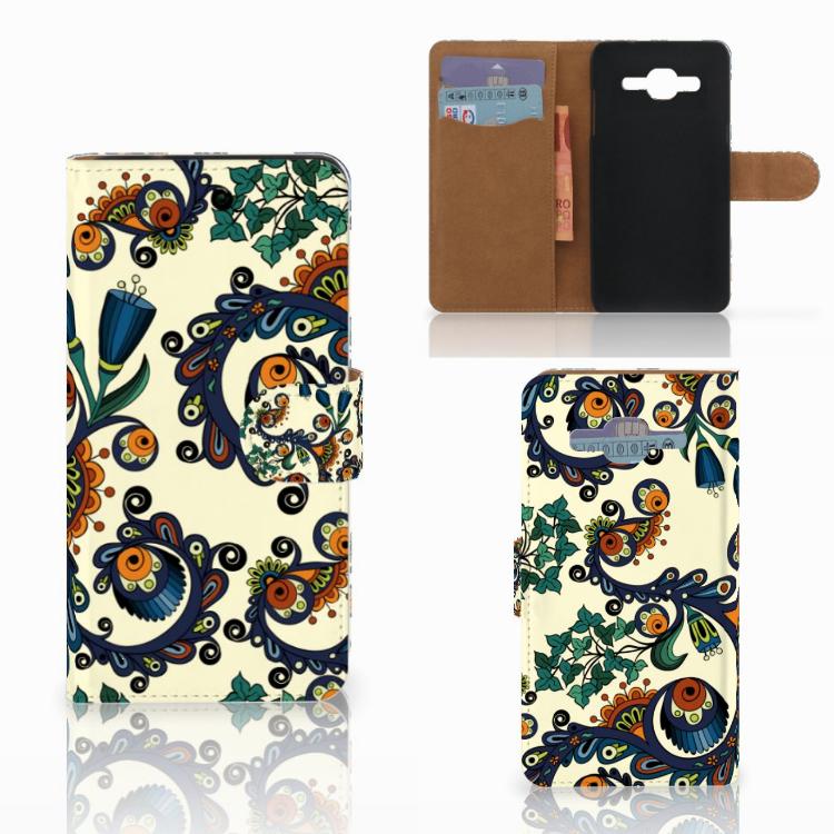 Wallet Case Samsung Galaxy J2 2016 Barok Flower