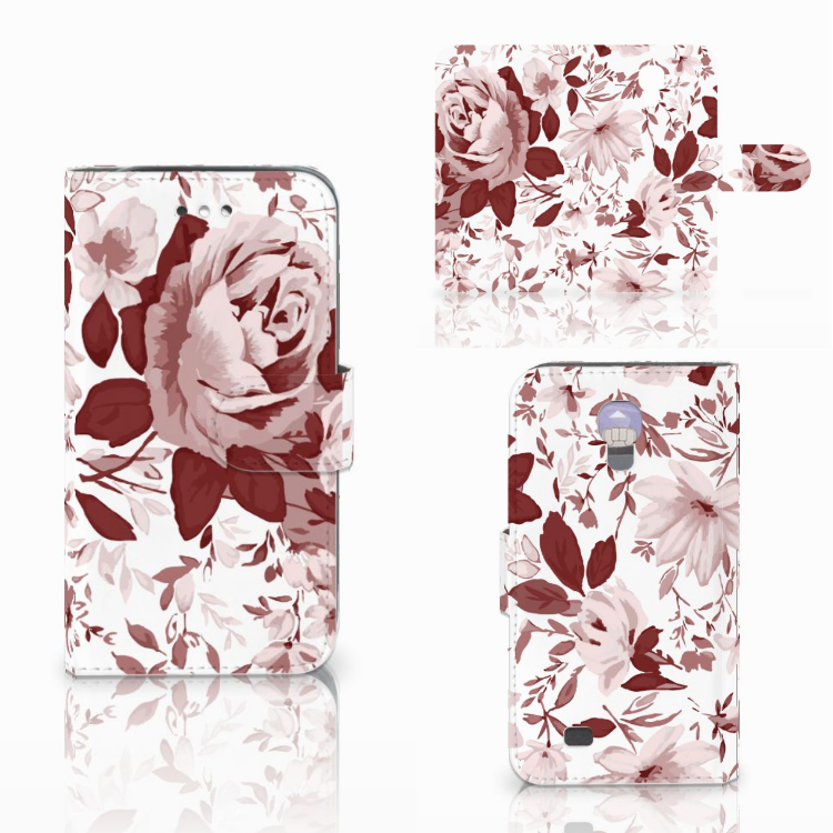 Hoesje Samsung Galaxy S4 Watercolor Flowers