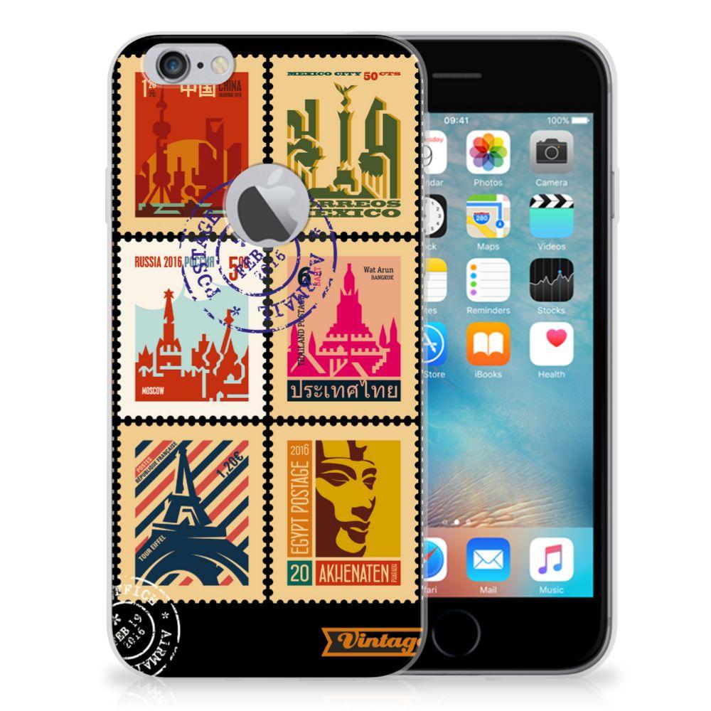 Apple iPhone 6 Plus | 6s Plus Siliconen Back Cover Postzegels