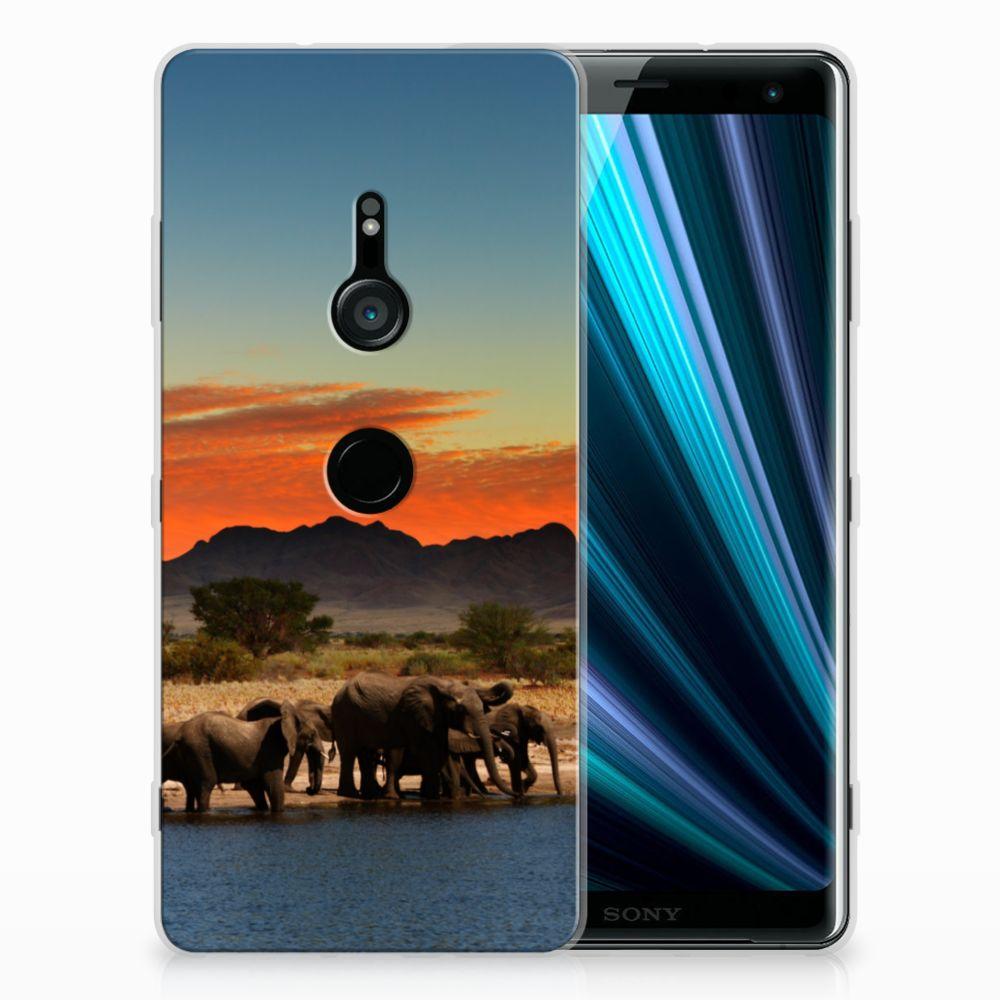 Sony Xperia XZ3 TPU Hoesje Olifanten