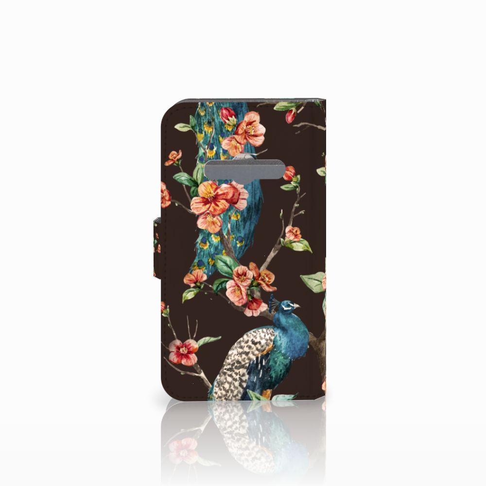 Samsung Galaxy Xcover 3   Xcover 3 VE Telefoonhoesje met Pasjes Pauw met Bloemen