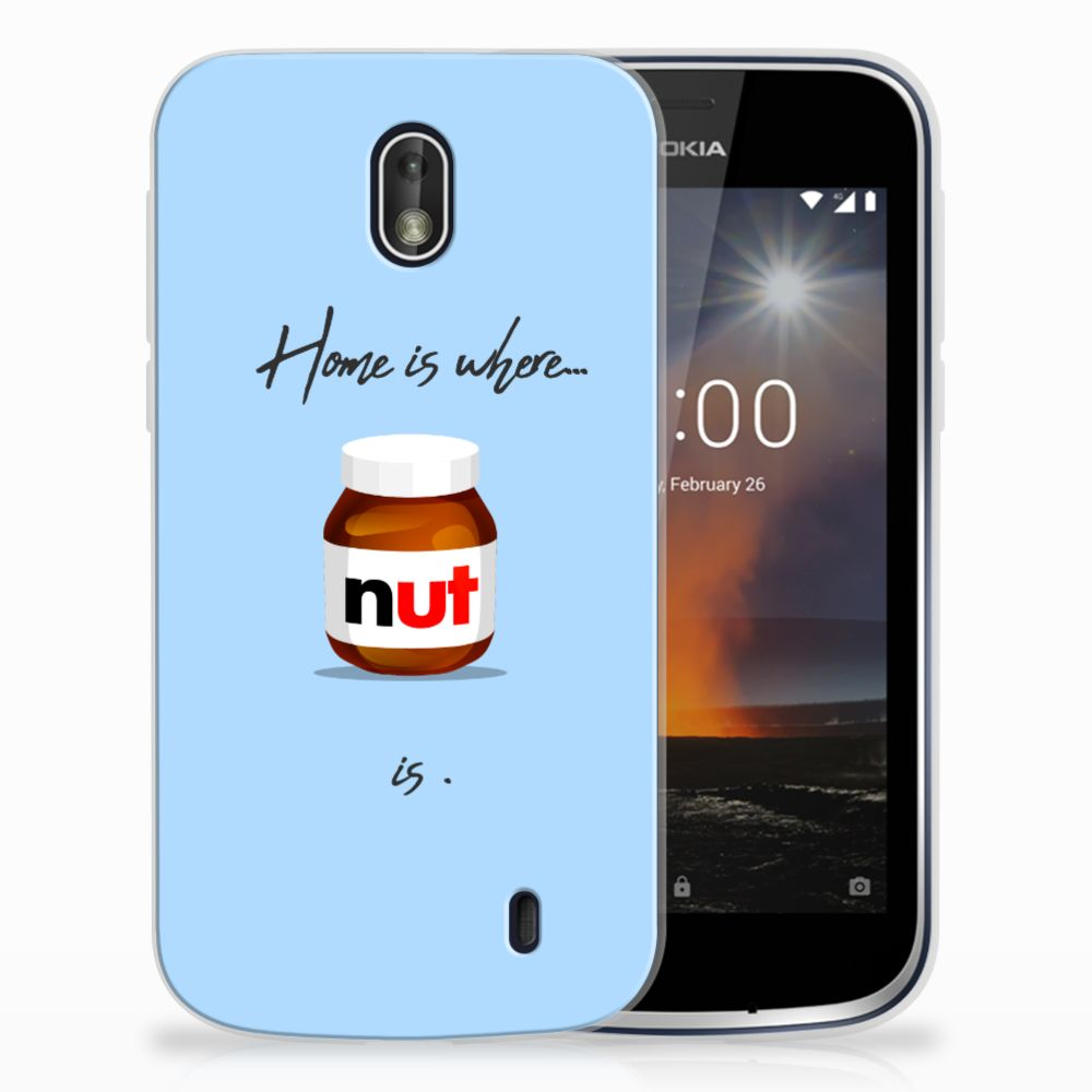 Nokia 1 Siliconen Case Nut Home