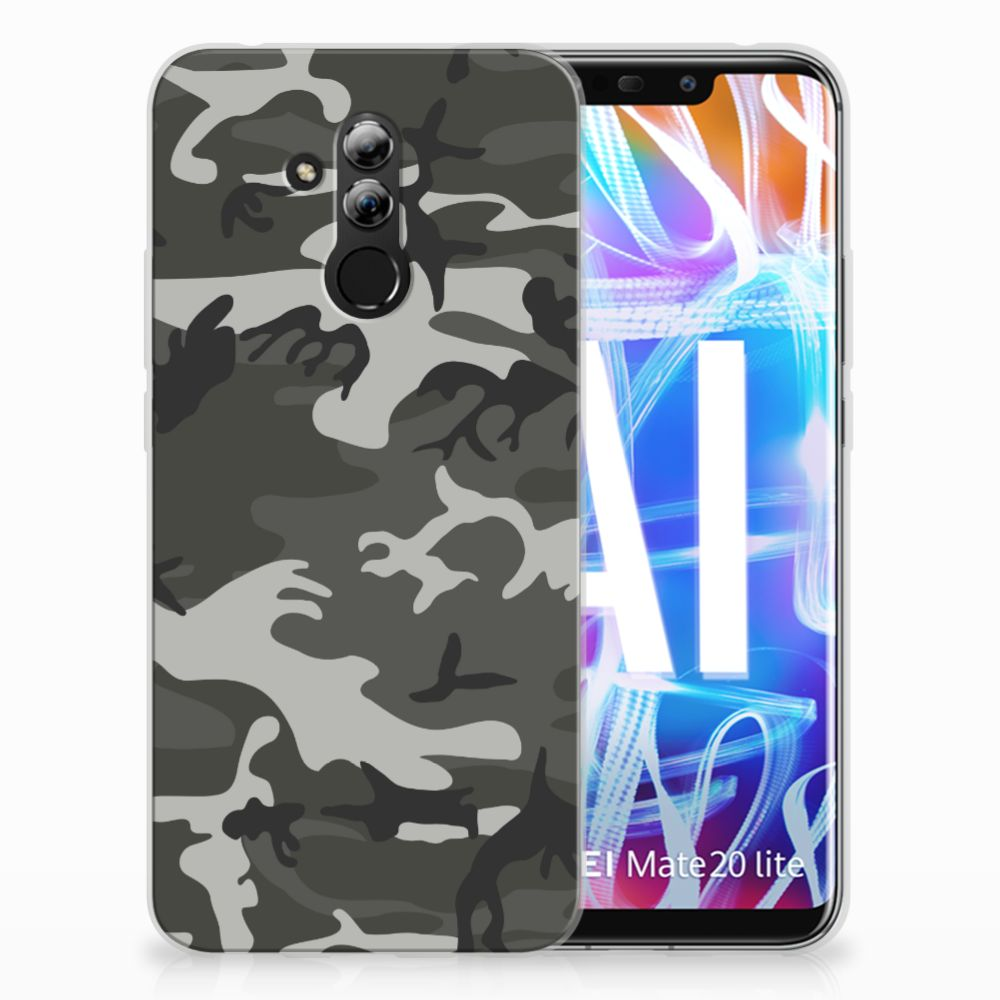 Huawei Mate 20 Lite Uniek TPU Hoesje Army Light