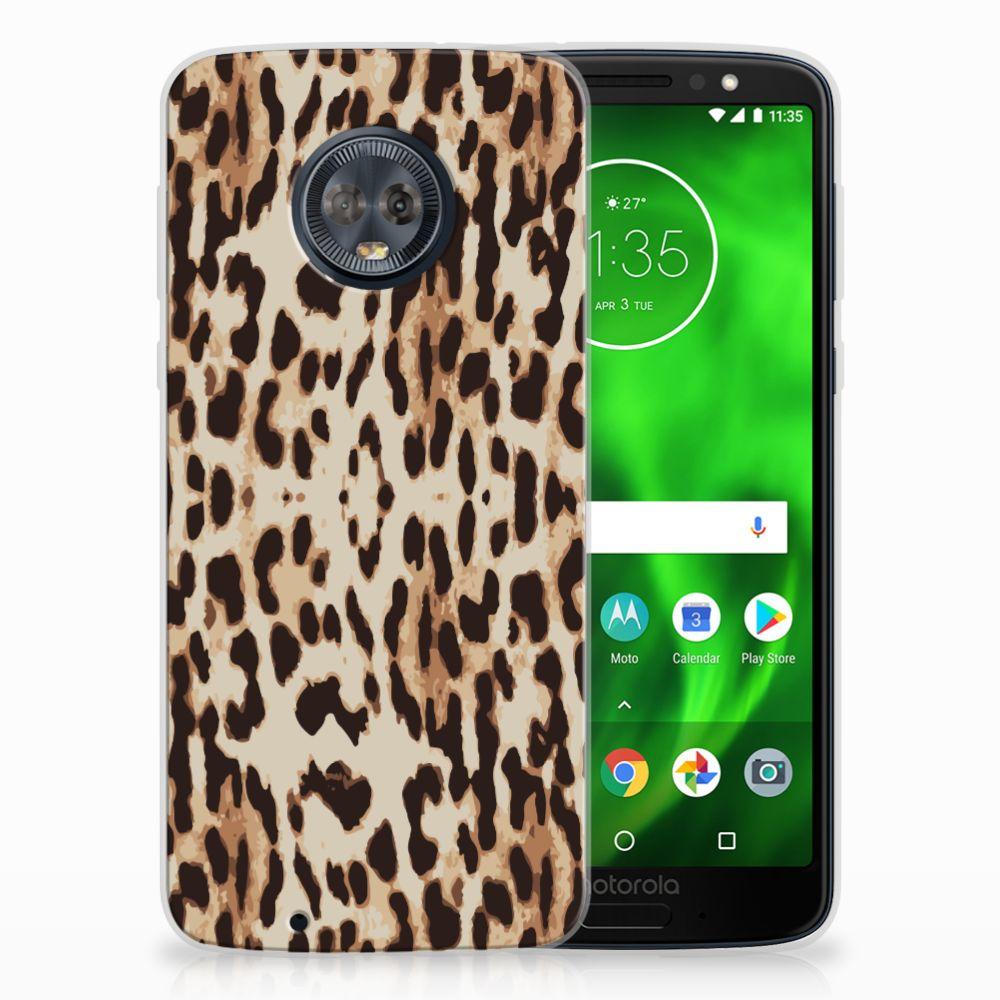 Motorola Moto G6 Uniek TPU Hoesje Leopard